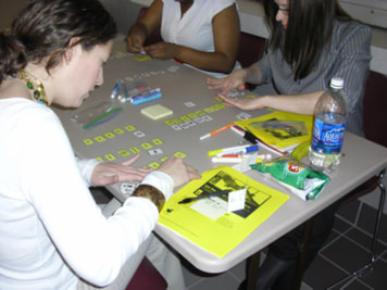 Participants Completing Vowel-Matching Activity